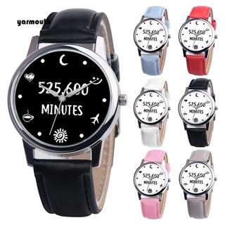 Đồng hồ đeo tay dây giả da thiết kế đơn giản làm quà tặng độc đáo xinh xắn