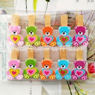 Combo 10 kẹp gỗ gấu trái tim kèm dây thừng - 10029775 , 479347351 , 322_479347351 , 21000 , Combo-10-kep-go-gau-trai-tim-kem-day-thung-322_479347351 , shopee.vn , Combo 10 kẹp gỗ gấu trái tim kèm dây thừng