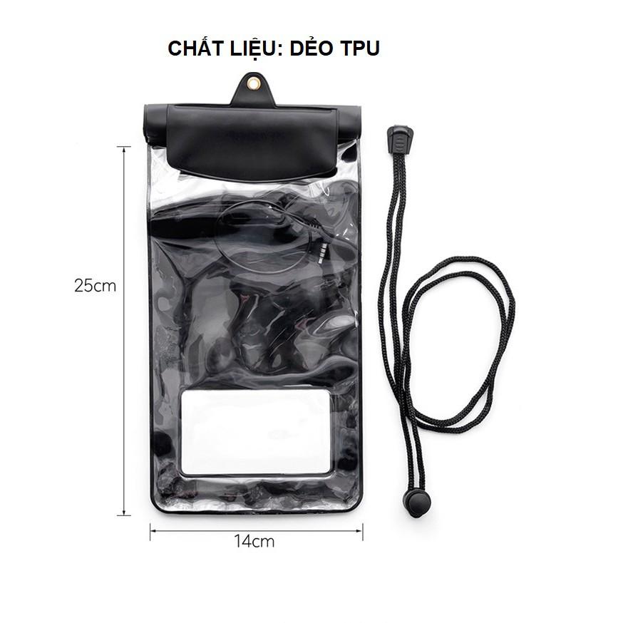 Túi đựng điện thoại chống nước iphone X, iphone12/11/8/7 thông minh có thể nghe headphone dưới trời mưa