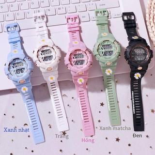 Đồng hồ điện tử nam nữ Sport Sp2 dây hoa cúc mặt tròn fsdav41 thumbnail