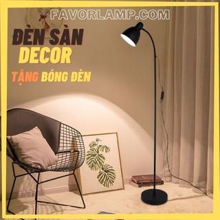 [TẶNG KÈM BÓNG] Đèn cây đọc sách DECOR kiểu dáng LERSTA bằng kim loại, nhỏ gọn giá rẻ chất lượng cao
