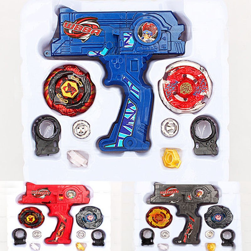 4D Launcher Grip Spinning Top Set Red
