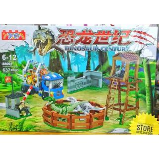 Lego YE88002 Lắp Ráp Công Viên Khủng Long – Dinosaur Century ( 637 Mảnh )