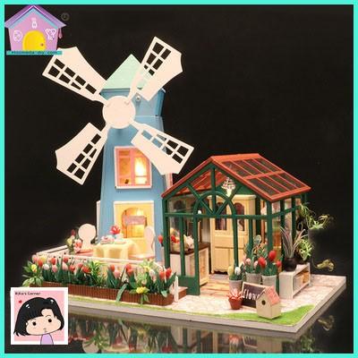 """Mô Hình Nhà Gỗ DIY """"Cối xay gió Amsterdam"""""""