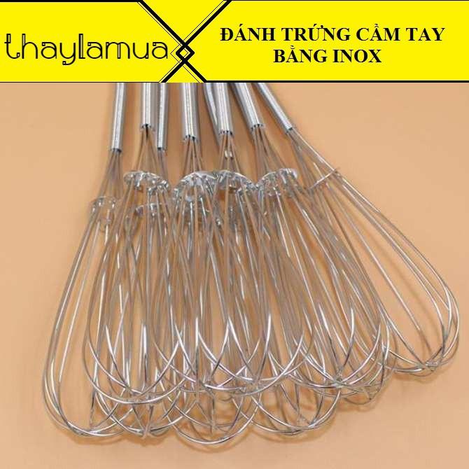 Combo 10 dụng cụ đánh trứng cầm tay chất liệu inox siêu bền có móc treo tiện dụng
