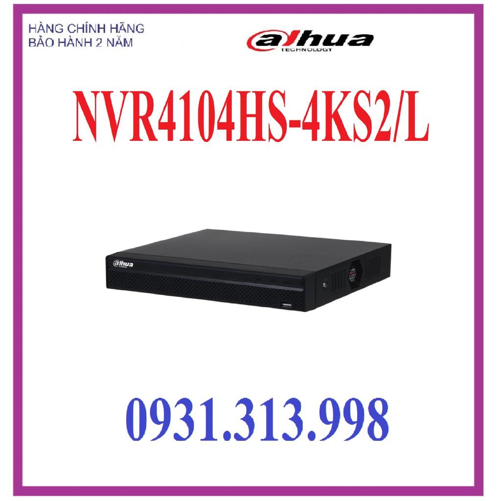 Đầu ghi hình camera IP 4 kênh DAHUA DHI-NVR4104HS-4KS2/L