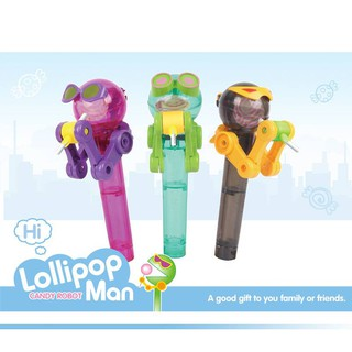 Kids Creative Eating Robot Lollipops Holder CUTE Lollipops Stand Gifts Baby Toy