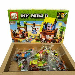 Bộ Lego Xếp Hình Minecraf My Work 3 Trong 1. Gồm 596 Chi Tiết.