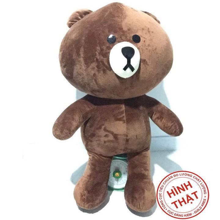 Gấu bông brown khổ vải 90cm