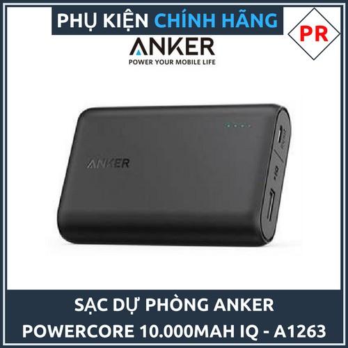 Sạc dự phòng Anker Powercore 10.000mAh (Ðen) - Chính hãng (Mã A1263) - 3121874 , 1075340837 , 322_1075340837 , 650000 , Sac-du-phong-Anker-Powercore-10.000mAh-en-Chinh-hang-Ma-A1263-322_1075340837 , shopee.vn , Sạc dự phòng Anker Powercore 10.000mAh (Ðen) - Chính hãng (Mã A1263)