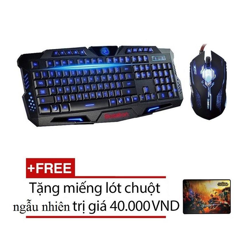 Bộ bàn phím và chuột chuyên game Bosston C888 X11 Led đa màu (Đen) + Tặng 1 miếng lót chuột chơi gam - 2543646 , 4680375 , 322_4680375 , 373000 , Bo-ban-phim-va-chuot-chuyen-game-Bosston-C888-X11-Led-da-mau-Den-Tang-1-mieng-lot-chuot-choi-gam-322_4680375 , shopee.vn , Bộ bàn phím và chuột chuyên game Bosston C888 X11 Led đa màu (Đen) + Tặng 1 miếng ló