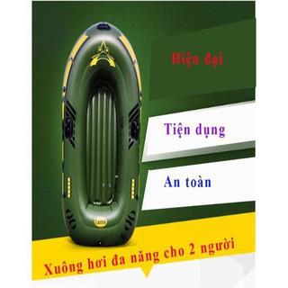 Xuồng bơm hơi du lịch cho 2 người- Thuyền Câu Cá Bơm Hơi ( CÓ TAY CHÈO, BƠM TAY, TẶNG MIẾN VÁ)