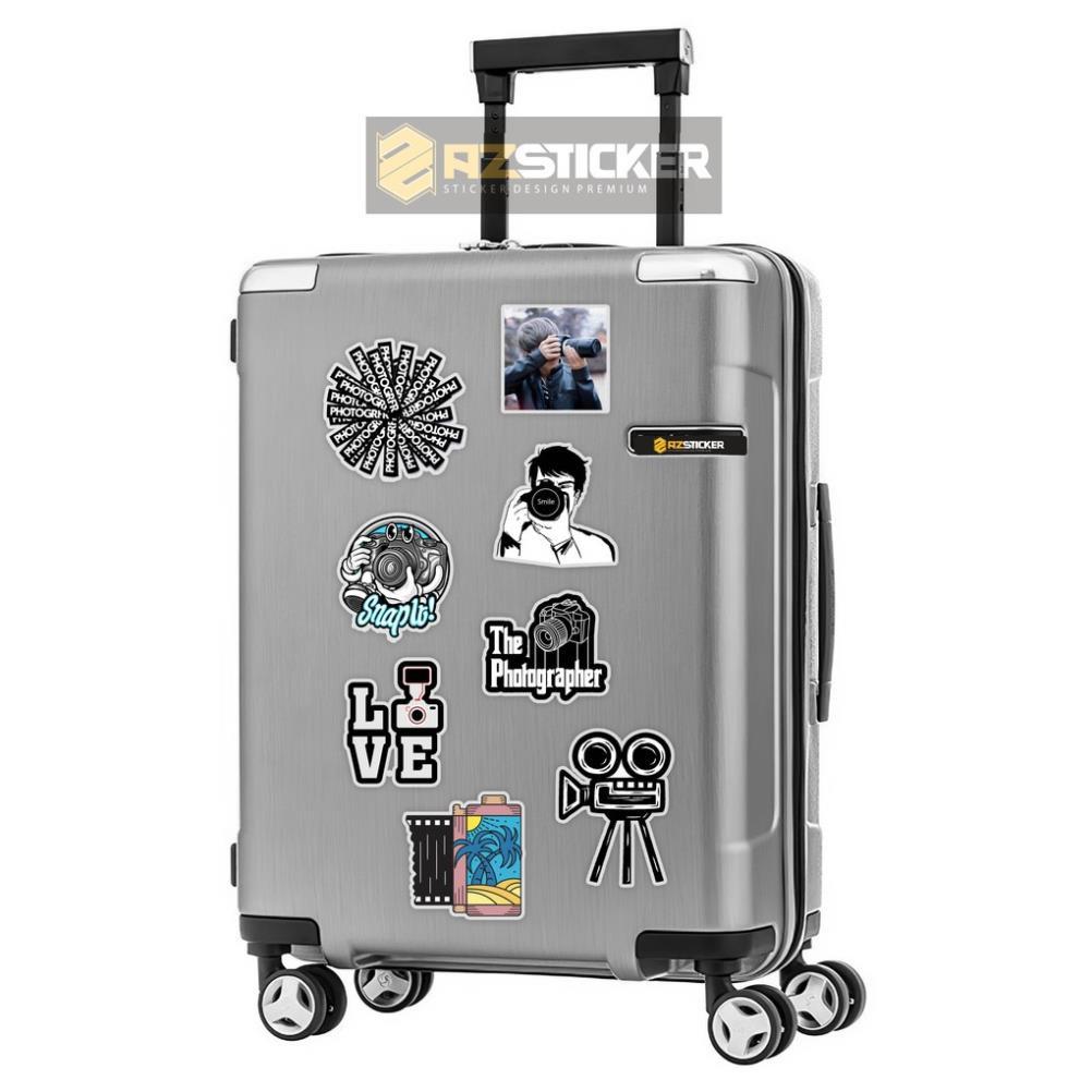 [Set 50+] Sticker Camera Nhiếp Ảnh Gia   Dán Nón Bảo Hiêm, Điện Thoại, Laptop, Bình Nước...Chống Nước, Chống Bay Màu