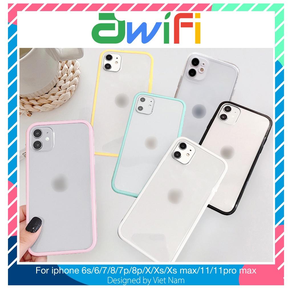 Ốp lưng iphone chống ố 5/5s/6/6plus/6s/6splus/7/7plus/8/8plus/x/xr/xs/11/12/pro/max/plus/promax - Awifi Case C1-3