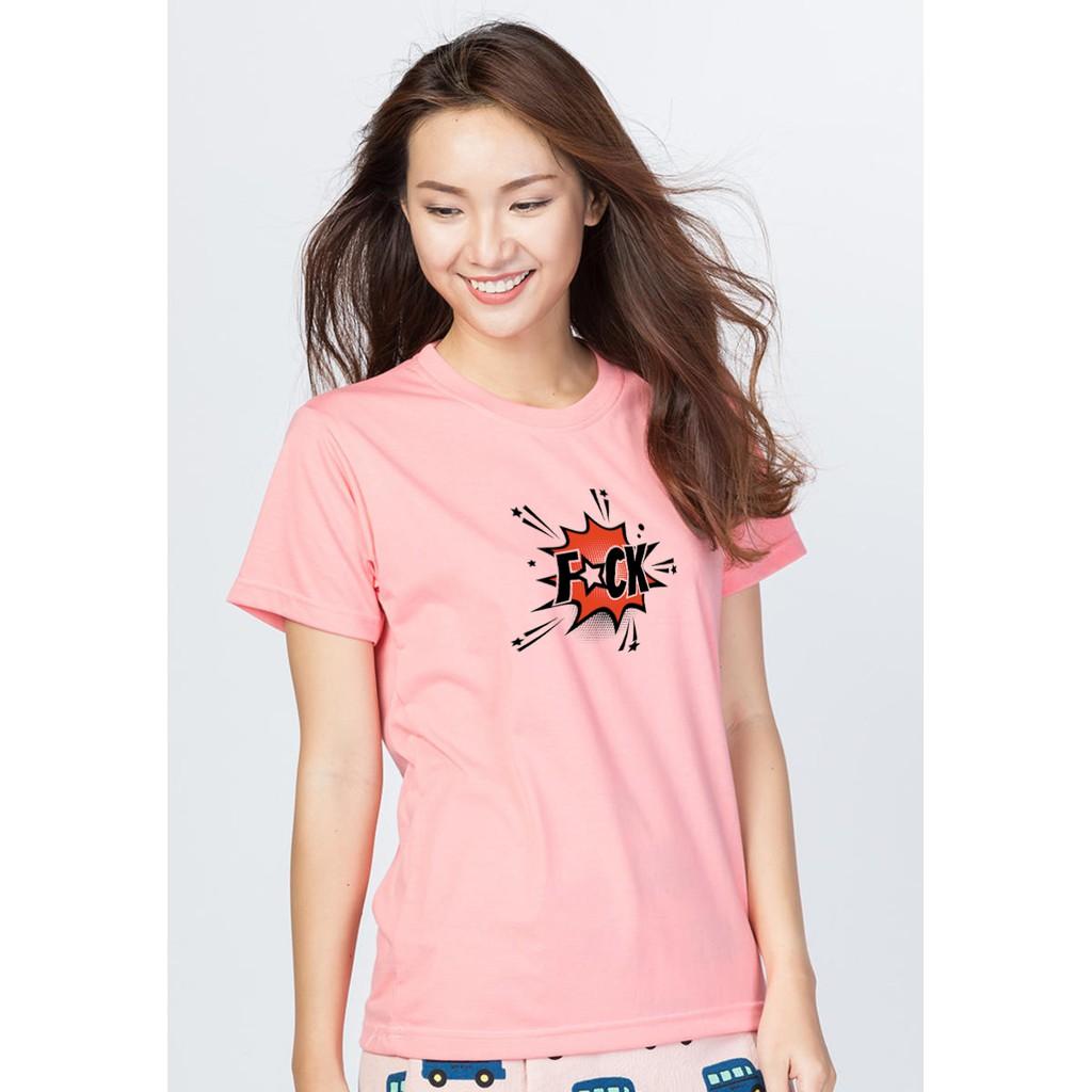 Áo thun nữ hồng in hình 55 (EVEREST)