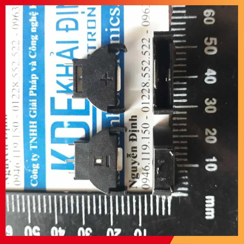 [TIẾT KIỆM] ĐẾ PIN 3V, CR2032 loại ĐỨNG (10 cái) kde1967
