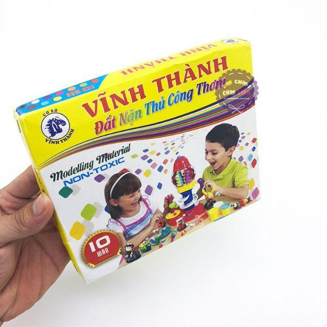 [Sale70%] LỐC 5 HỘP ĐẤT NẶN THỦ CÔNG 10 MÀU VT