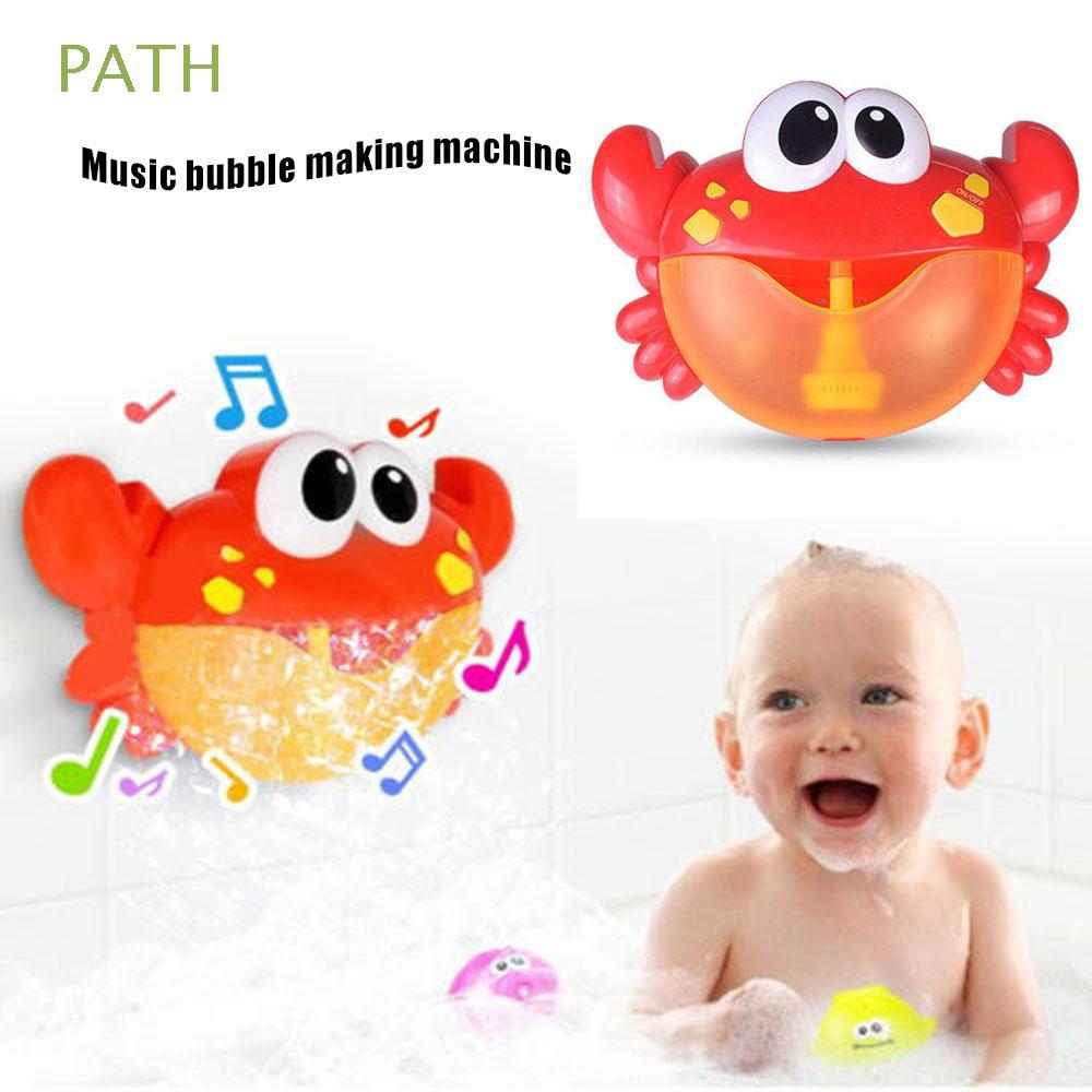 Educational Automated Spout Soap Kids Christmas Gift Poll Swimming Crab Bubble Machine