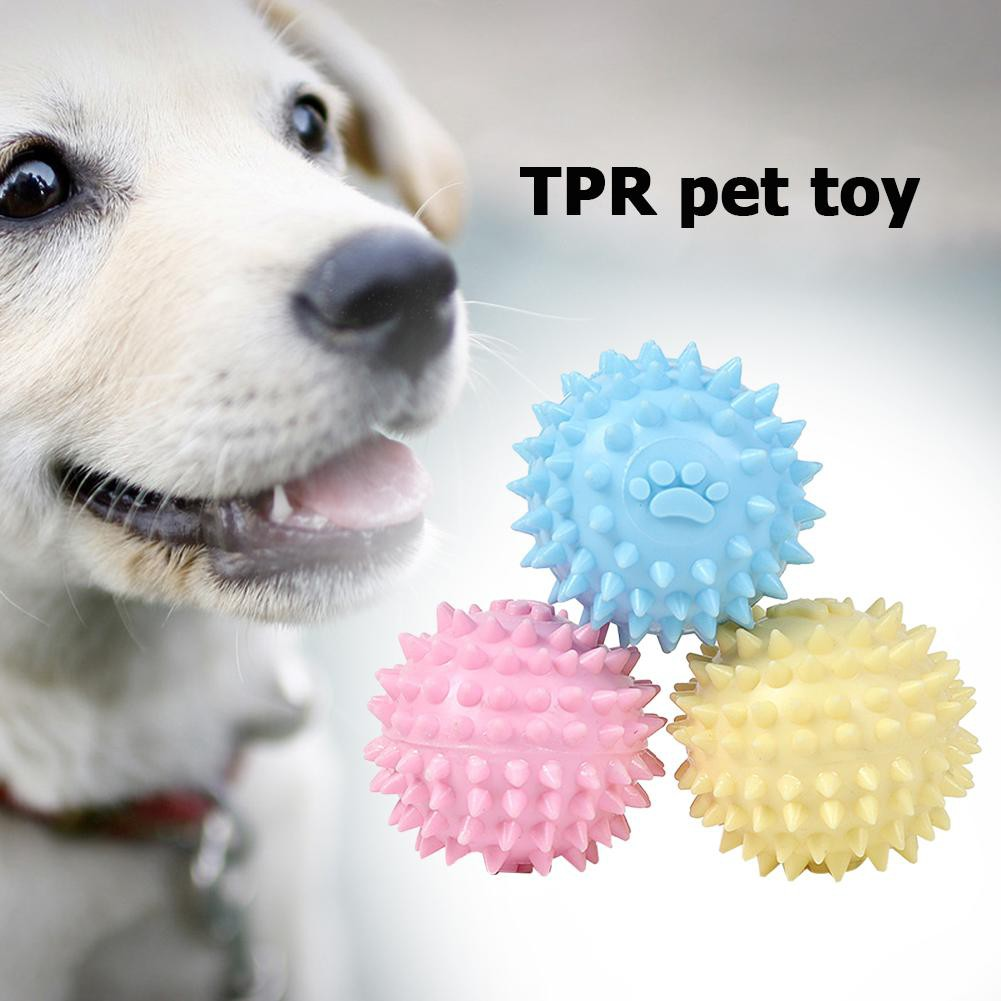 Cash on delivery Ready TPR Pet Toy Footprint Thorn Ball Dogs Bite Chew Molar Tooth Cleaning Toys Muswanna