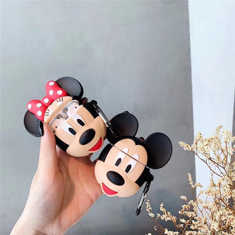 Mickey Minnie Couple [300+] เคส Airpods1 / 2 เคส Iphone Apple เคสหูฟัง Airpods นิ่ม 3D สามมิติยางจากหนังการ์ตูน