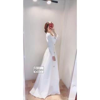 Đầm maxi trắng viền ren • CHANH SẢ ĐẾN TỘT CÙNG • :fallen_leaf:Đơn giản nhẹ nhàng mà sẵn sàng đưa nàng đến mọi nơi ! Kèm