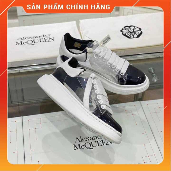 [ SALE SỐC  ] ❤️Full box ❤ Bill + Tất❤ - Giày thể thao nam nữ MCQueen Trong xuốt cao cấp tăng chiều cao