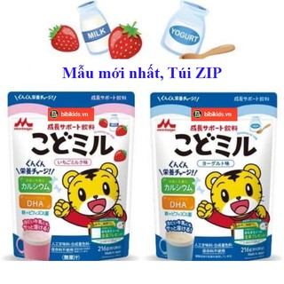 MÂ U MƠ I - Sữa Morinaga kodomil Dâu và Vani Tu i Zip 216g