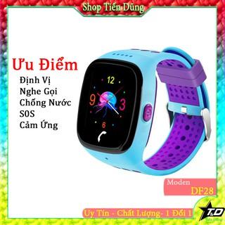 Đồng hồ định vị trẻ em df28 chống nước nghe gọi 2 chiều màn hình màu có cảm ứng