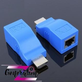 [Mã ELFLASH5 giảm 20K đơn 50K] Bộ chuyển đổi HDMI ra LAN 30M 1.1 - Đầu chuyển đổi HDMI ra LAN 30M 1.1 combo 2pcs/hộp