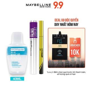 [Bộ trang điểm] Bút kẻ mắt Hyper Sharp 0.5g + Mascara Falsies 8.6ml + Tẩy trang mắt môi 40ml Maybelline New York thumbnail