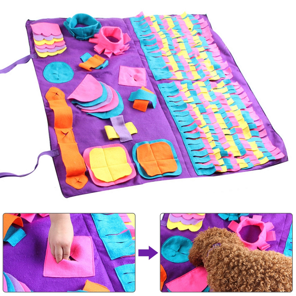 Feeding Foraging Interactive Toys Washable Play Bright Colors Pressure Relief Pet Sniffing Mat
