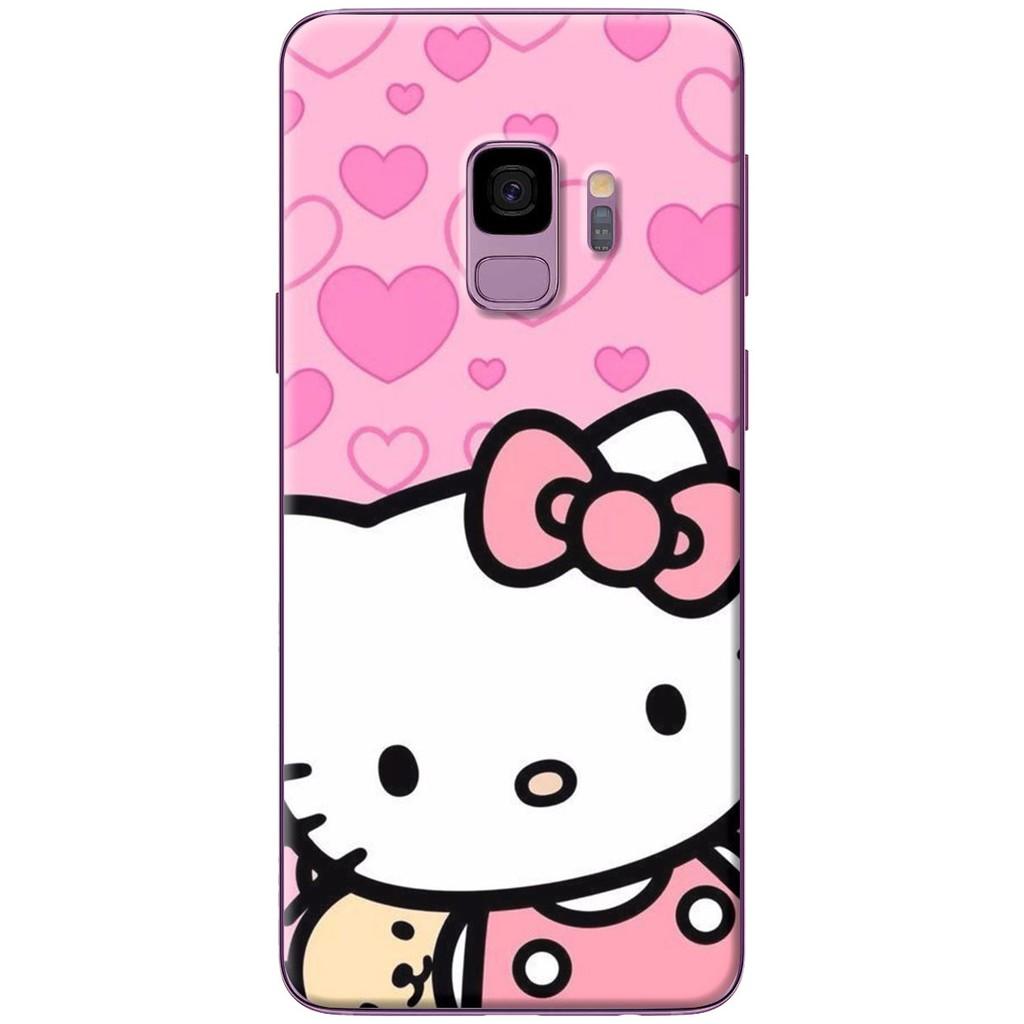 Ốp lưng nhựa dẻo Samsung S9, S9 Plus Mèo hồng trái tim