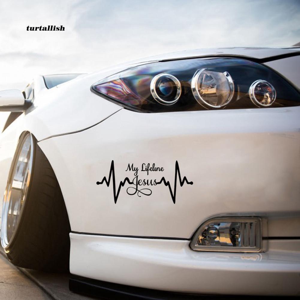 TUR♥My Lifeline Jesus Graph Sticker Christian God Religious Cute Car Styling Decal