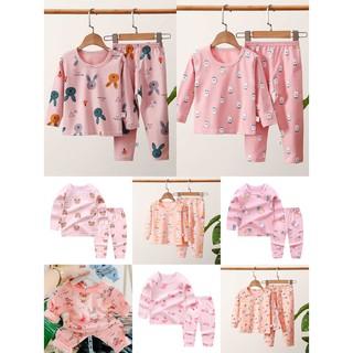 Bộ quần áo dài tay bé gái/ Bé Trai chất cotton xuất hàn họa tiết cao cấp cho bé 8-24kg