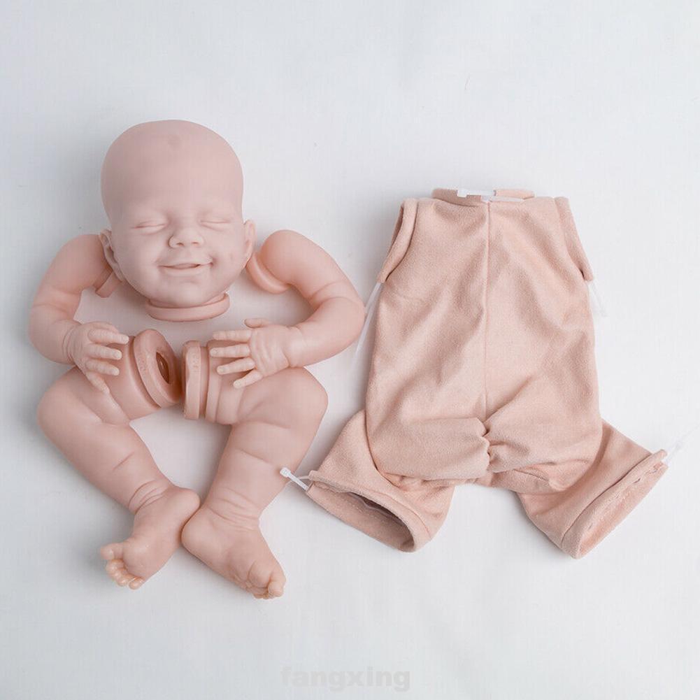 22inch Soft Birthday Gift Non Toxic Sleeping Baby Unpainted Vinyl Head Reborn Doll Kit