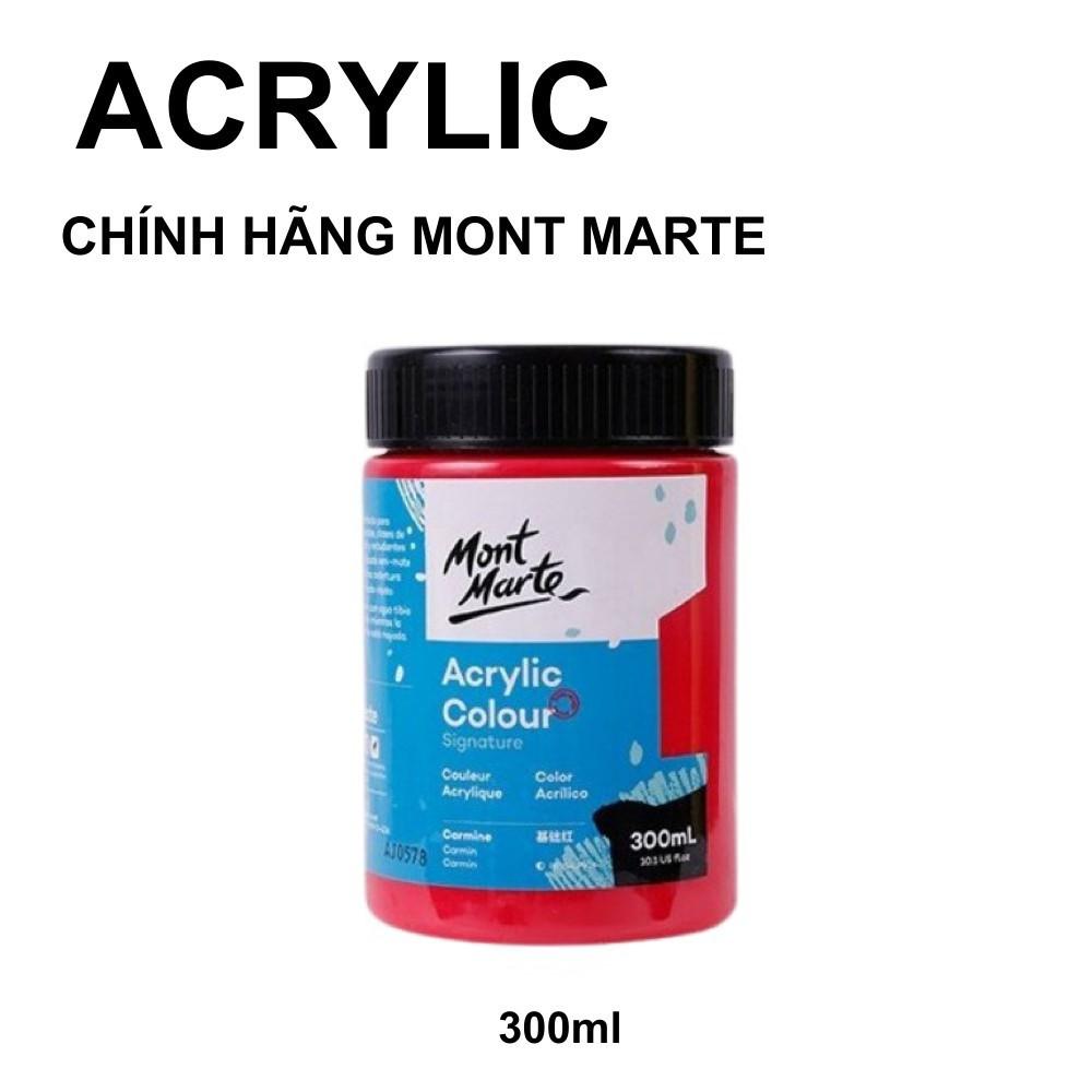 Màu Acrylic 3D Mont Marte Signature 300ml vẽ vải, giày, áo, tường, gốm sứ chính hãng Australia