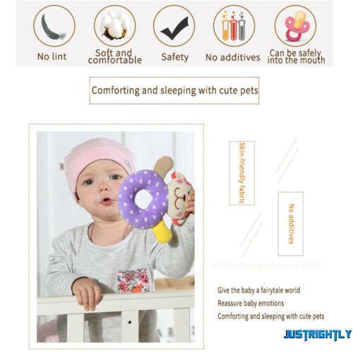 Jry₪Baby Boys Girls Safe Rattle Toys Newborn Lovely Animal Design Plush Hand Bell Toys
