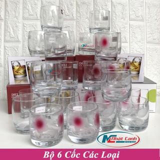 Bộ cốc thủy tinh 6 chiếc DeLi chính hãng chất lượng cao các loại