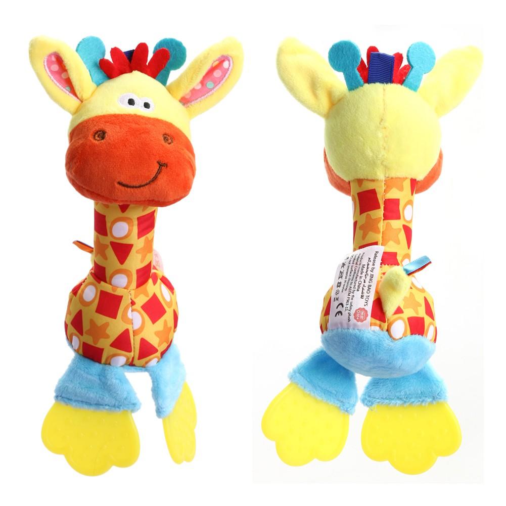 ★lp★Newborn Baby Infant Animal Handbells Teether Developmental Bed Bells Toys