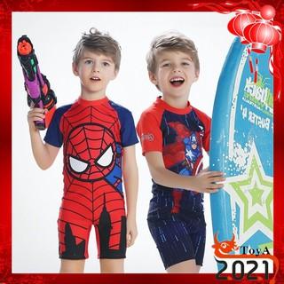 [Mã FAGREEN55 giảm tới 30K đơn 99K] Đồ bơi in hình anh hùng siêu nhân cho bé trai 3-12 tuổi