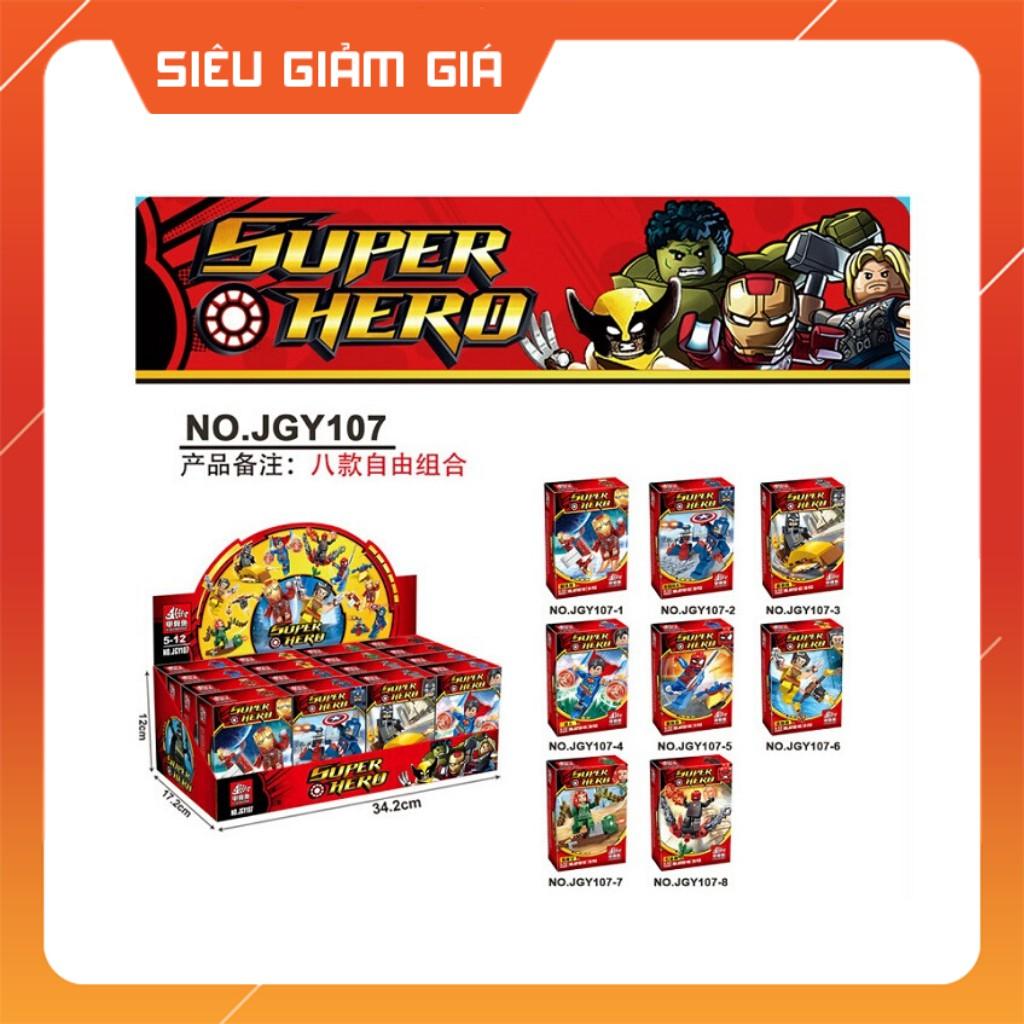 [Đồng giá] Lego Lắp Ráp Mô Hình Minifigures Marve Super Hero Đội Quân Siêu Anh Hùng Các Phiên Bản JGY107 SY6399 SY1320