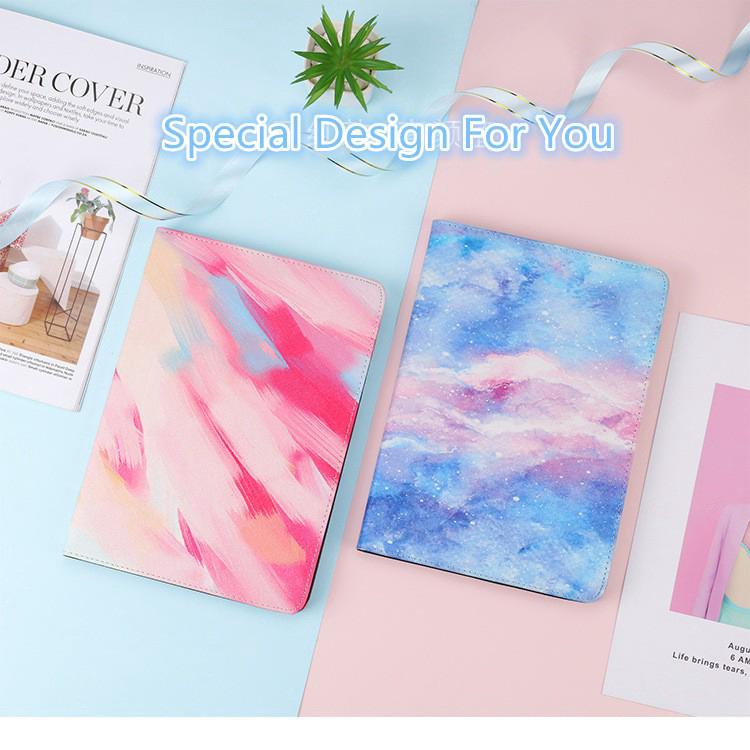 New fashion ipad case marble starry oil pattern all-inclusive design soft shell