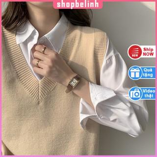 [Hình thật] Áo len gile hàng VNXK, áo sơ mi đẹp kiểu dáng rộng unisex – shopbelinh