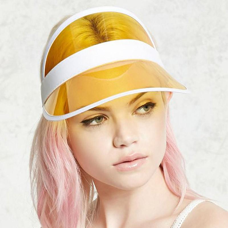 Mũ vành trong suốt che nắng thời trang cho nữ
