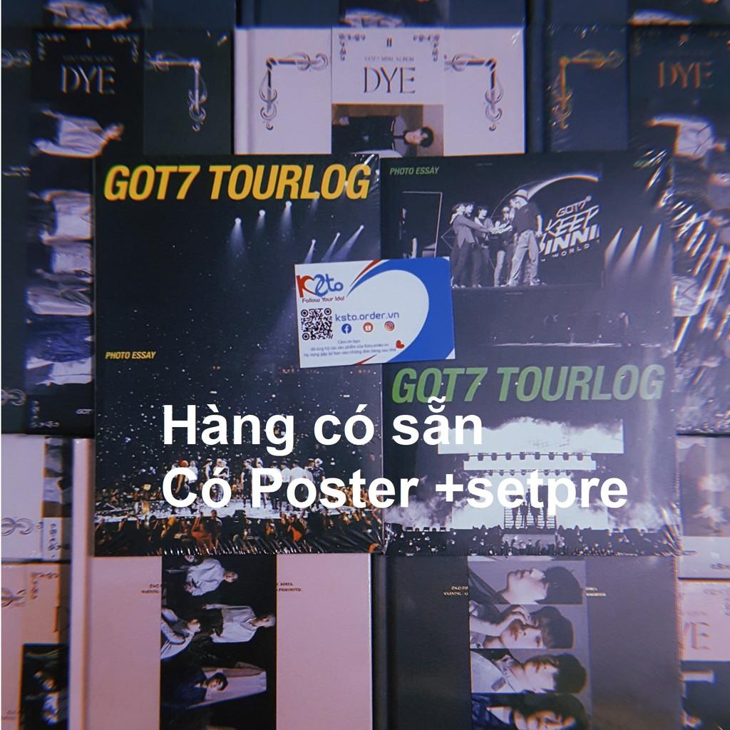 Bộ ảnh Album GOT7- DYE sắc màu được chọn ver + Quà bưu ảnh khổ A5 hình bias