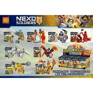 Đồ chơi lắp ráp lego nexo lezi 92001 trọn bộ 8 hộp như hình.
