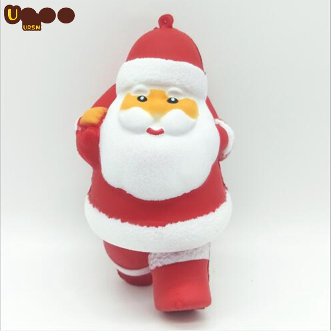 Christmas Slow Bounce Emulates Santa Claus Toys Decompression Squishy Toys