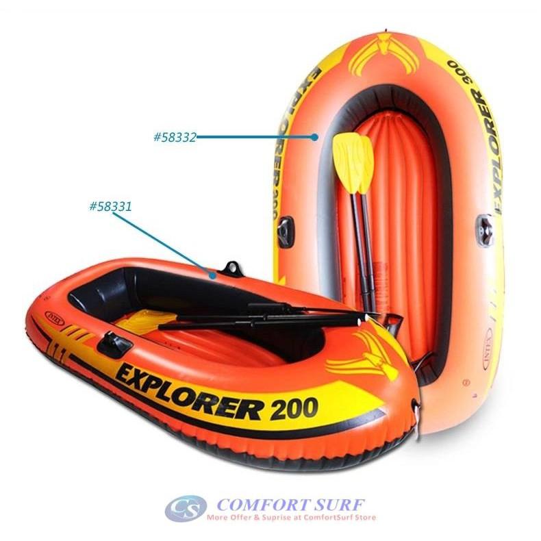 Thuyền bơm hơi trẻ em EXPLORER 200 INTEX 58331 KÈM TAY CHÈO. INTEX BƠM TAY