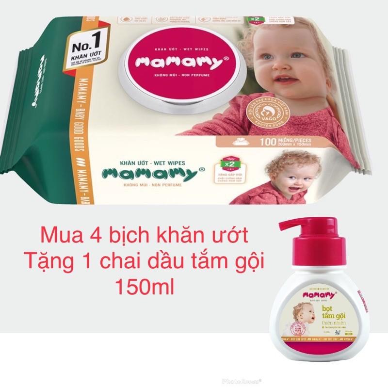 Khăn Giấy Ướt Mamamy Không Mùi (80 Tờ / Gói)