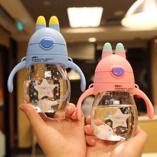 Bình uống nước chống sặc tai thỏ phiên bản